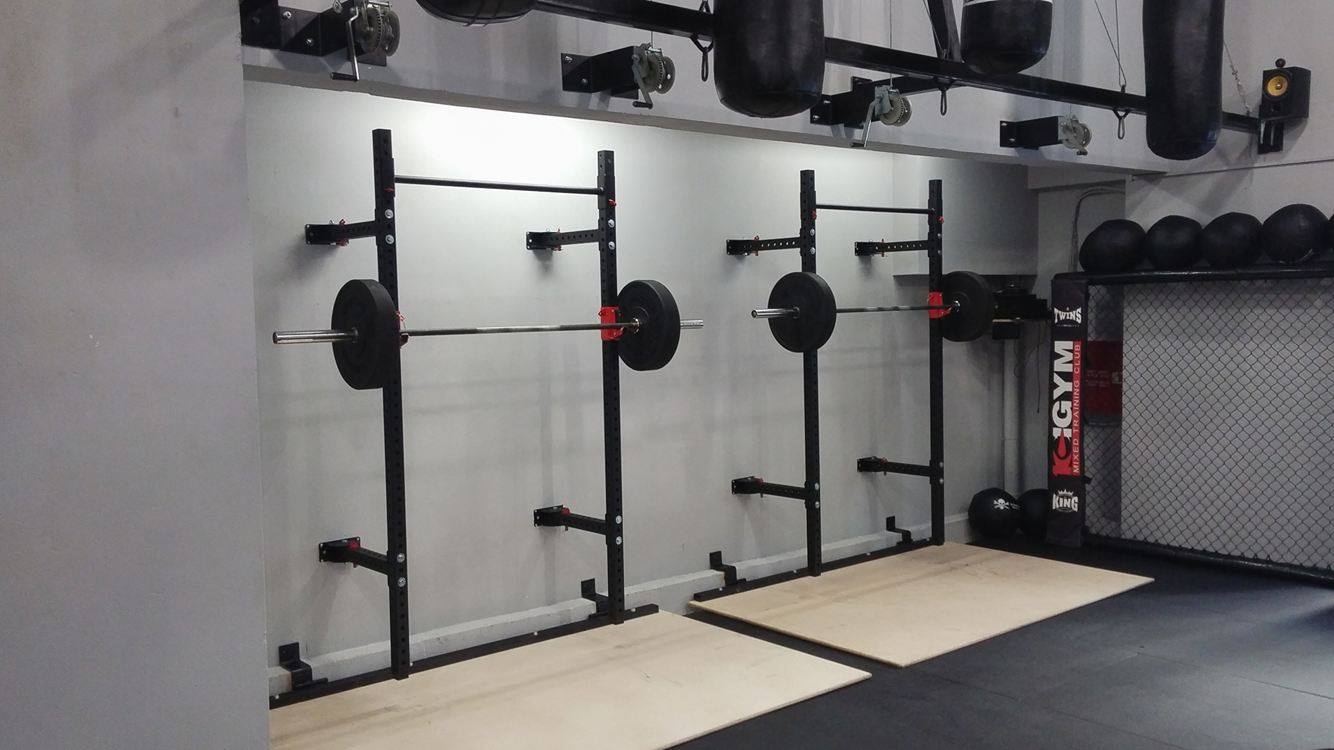 Folding wall mounted squat rack themachineshop for A squat rack